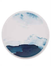 Blue Washed Rimmed Glazed Side Plate 20cm