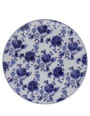 Blue Collage Floral 28cm Plate
