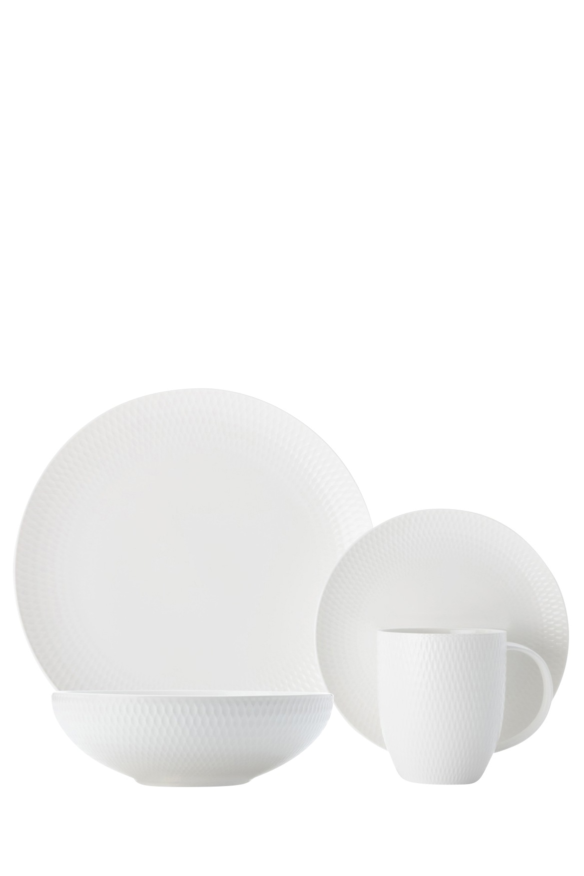 Maxwell u0026 Williams | White Basics Diamonds 16 Piece Dinner Set Gift Boxed | Myer Online  sc 1 st  Myer : maxwell williams dinnerware - pezcame.com