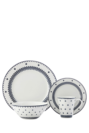 Contains 4 x side plates 4 x dinner plates 4 x bowls and 4 x mugs. Composition Porcelain Care instructions Microwave u0026 dishwasher safe.  sc 1 st  Myer & Maxwell u0026 Williams | Ponto 16 Piece Dinner Set - Navy | Myer Online