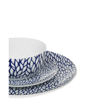 Habitat101 - Cerito 12 Piece Dinner Set - Blue