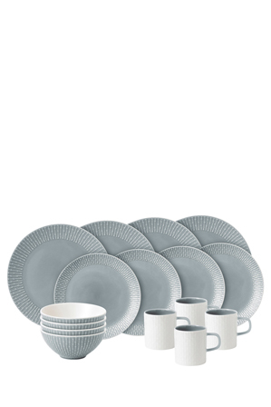 Royal Doulton - Hemingway 16 Piece Dinner Set - Grey