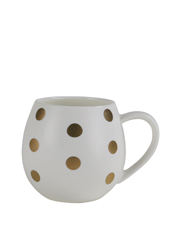 Mini Hug Me Mug - White & Gold