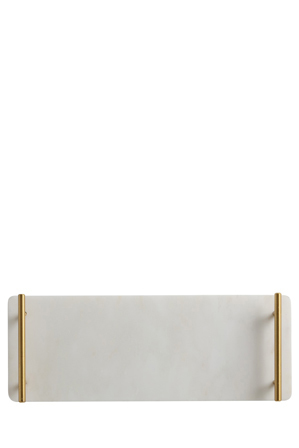 Maxwell & Williams - Mezze Marble Tray, Gift Boxed, 40x15cm - Gold Handle