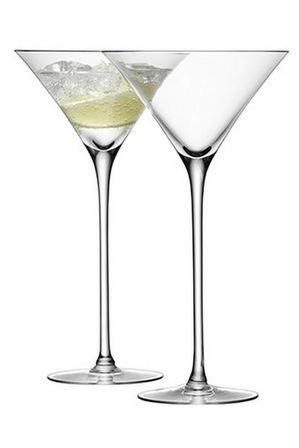 LSA - Bar Cocktail Glass 275ml Clear x 2