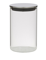 Davis & Waddell - Essentials Glass Canister with Stainless Steel Lid, 1.1L