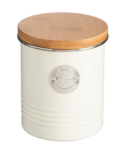 Living Sugar Canister with Bamboo Lid - Cream