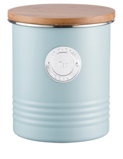Living Tea Canister with Bamboo Lid 1l - Blue