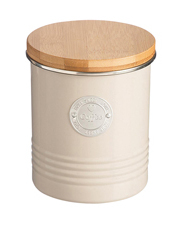 Living Coffee Canister with Bamboo Lid - Putty