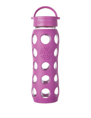 Lifefactory - Lifefactory Glass 650ml Drink Bottle with Classic Cap - Huckleberry