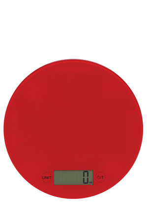Vue - Glass Round Scale, 5kg/1g - Red