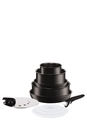 tefal | ingenio ptfe 10 piece induction cookware set | myer online