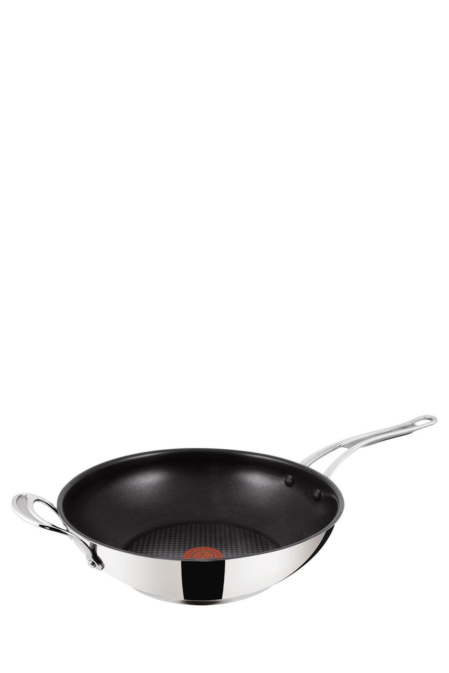 jamie oliver tefal premium stainless steel induction wok 30cm myer online. Black Bedroom Furniture Sets. Home Design Ideas
