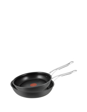 Premium Hard Anodised Induction Frypan Twin Pack  24 & 28cm