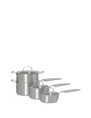 Ultima 3 Triply Stainless Steel 4 Piece Saucepan Set