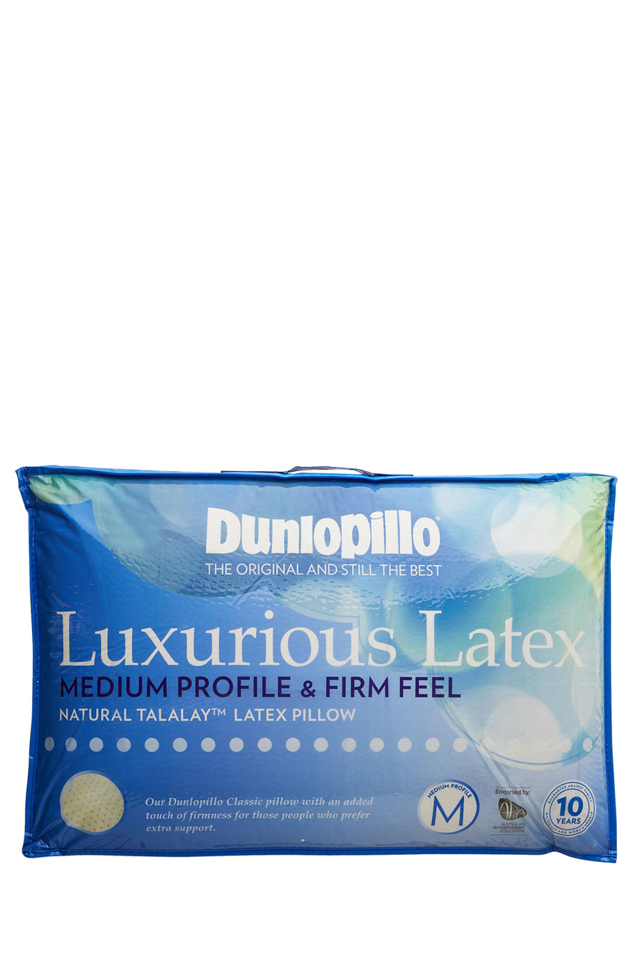 Dunlopillo talalay latex medium profile pillow in firm feel myer online - Dunlopillo 100 latex ...