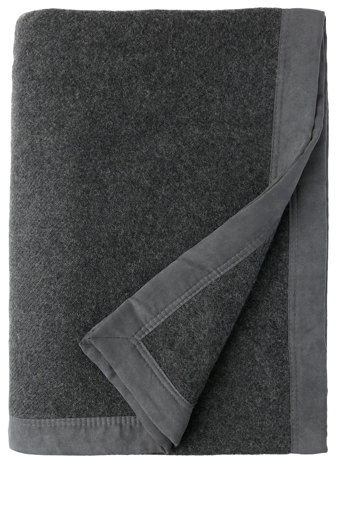 australian house u0026 garden merino wool blanket in charcoal myer online