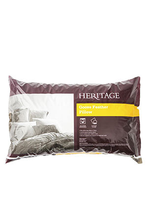 Heritage - White Goose Feather Pillow - Standard