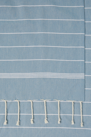 Australian House & Garden - Eden Striped Tablecloth with Fringe, 150x250cm
