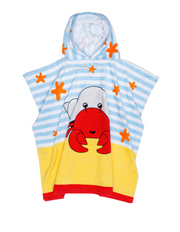 Vue Junior - Poncho in Crabby Blue