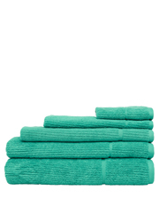 Combed Cotton Ribbed Towel Range in Mint