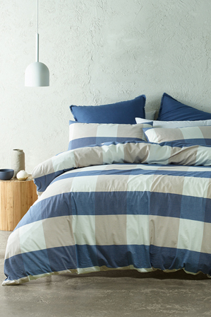 Vue - Seonda Quilt Cover Range in Blues