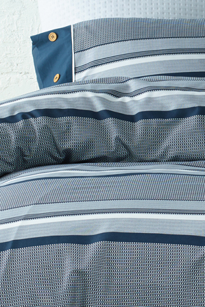 Vue - Grayson Quilt Cover Range in Navy