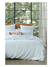 Sandy Cape Quilt Cover Range in White