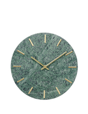 Vue - Marble Wall Clock, 30cm - Green & Gold