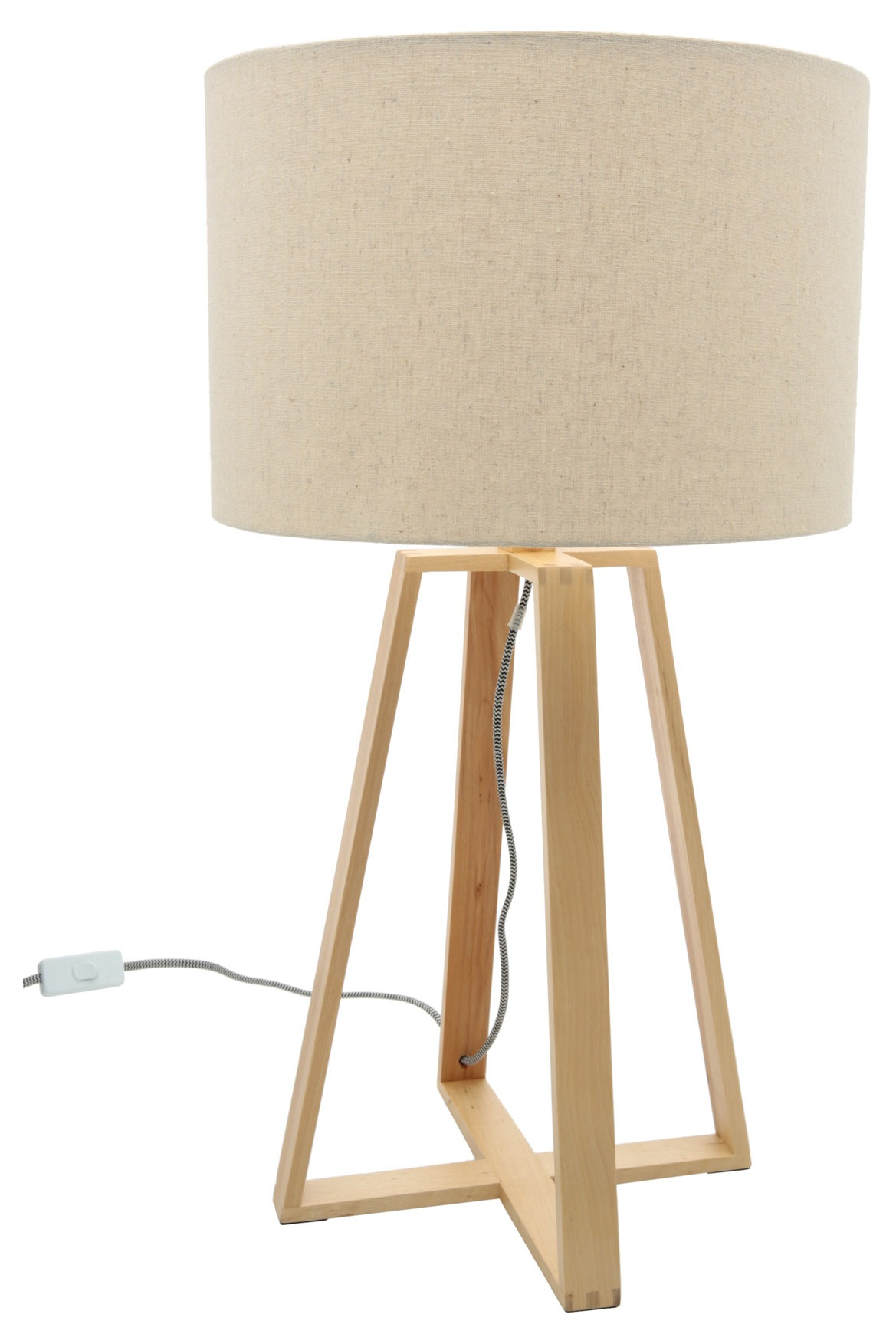australian house garden natural wood base table lamp with natural sha. Black Bedroom Furniture Sets. Home Design Ideas