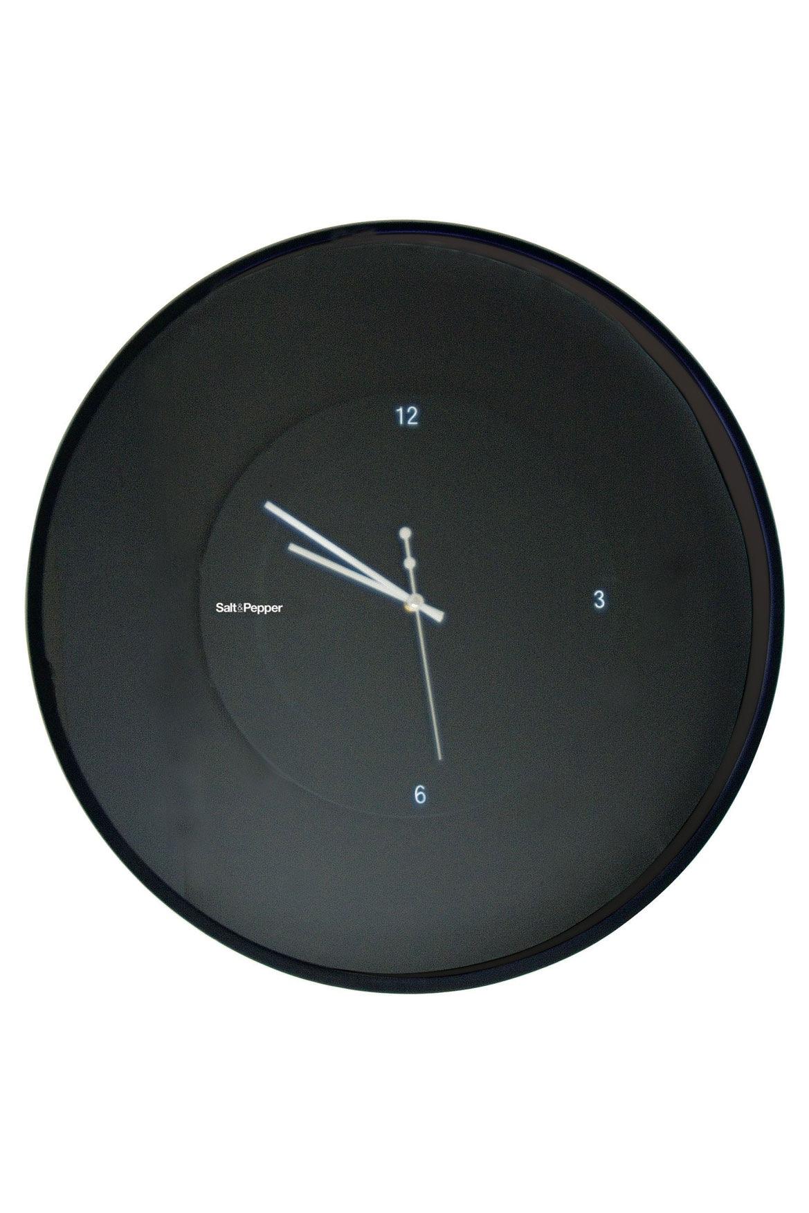 Salt Amp Pepper Zone 30cm Black Floating Wall Clock Myer