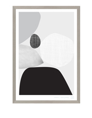 Printspace - Framed Art Series 02, 20x30cm - Black & White