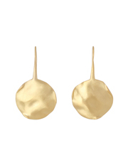 Fairley - SS497GP Alexa Beaten Disc Earrings