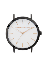 Christian Paul - Christian Paul RAW-WHI-BLK-43mm White Dial / Black Case / Rose Gold Hand-Indexes
