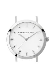 Christian Paul - Christian Paul LUX-WHI-SIL-43mm White Dial / Silver Case