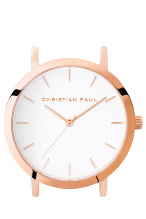 Christian Paul - Christian Paul RAW-WHI-RG-35mm White Dial / Rose Gold Case
