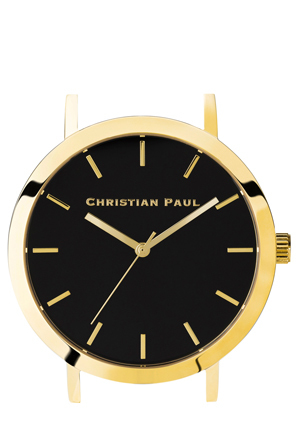 Christian Paul - Christian Paul RAW-BLK-GLD-35mm Black Dial / Gold Case