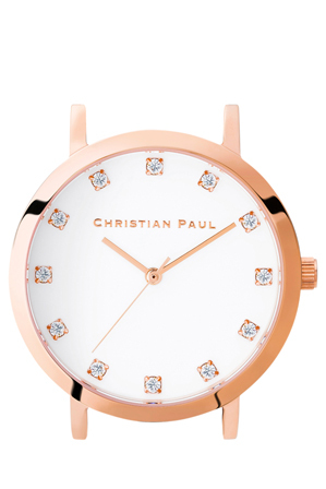 Christian Paul - Christian Paul LUX-WHI-RG-35mm White Dial / Rose Gold Case