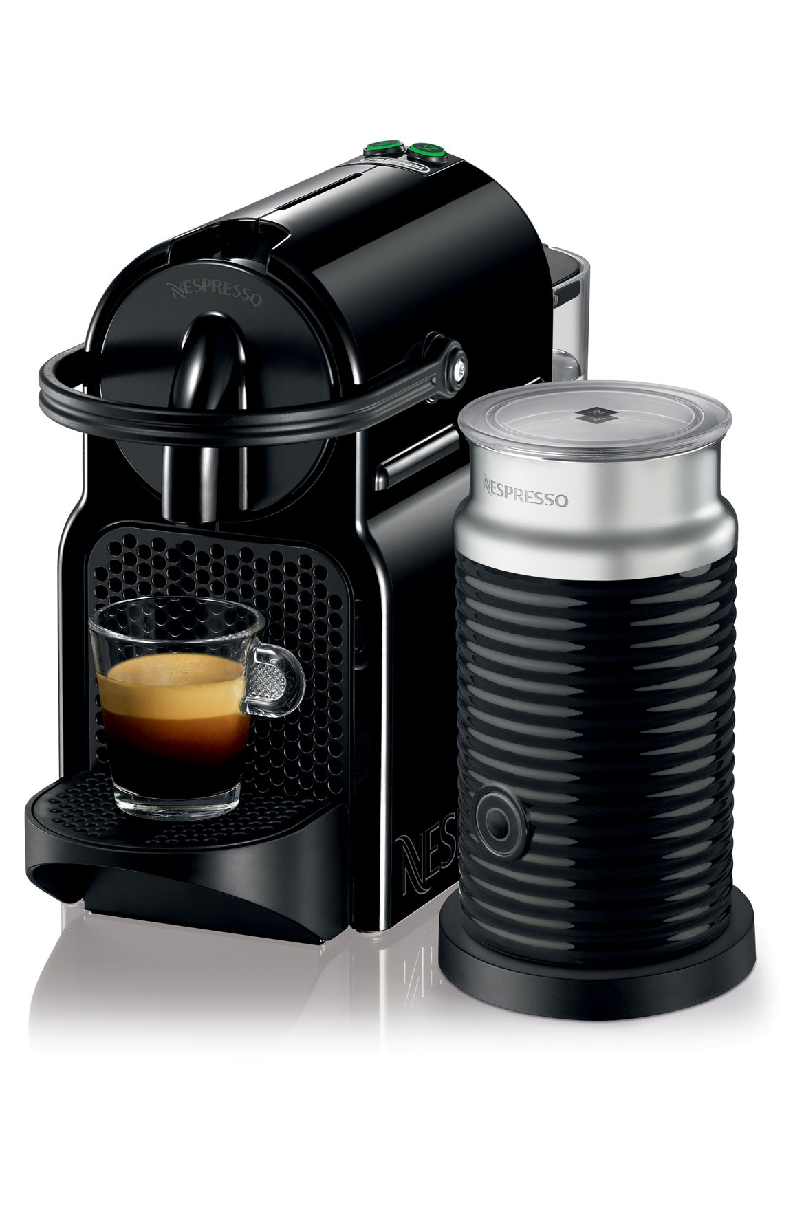 nespresso by delonghi en80bae inissia capsule coffee maker black myer online. Black Bedroom Furniture Sets. Home Design Ideas