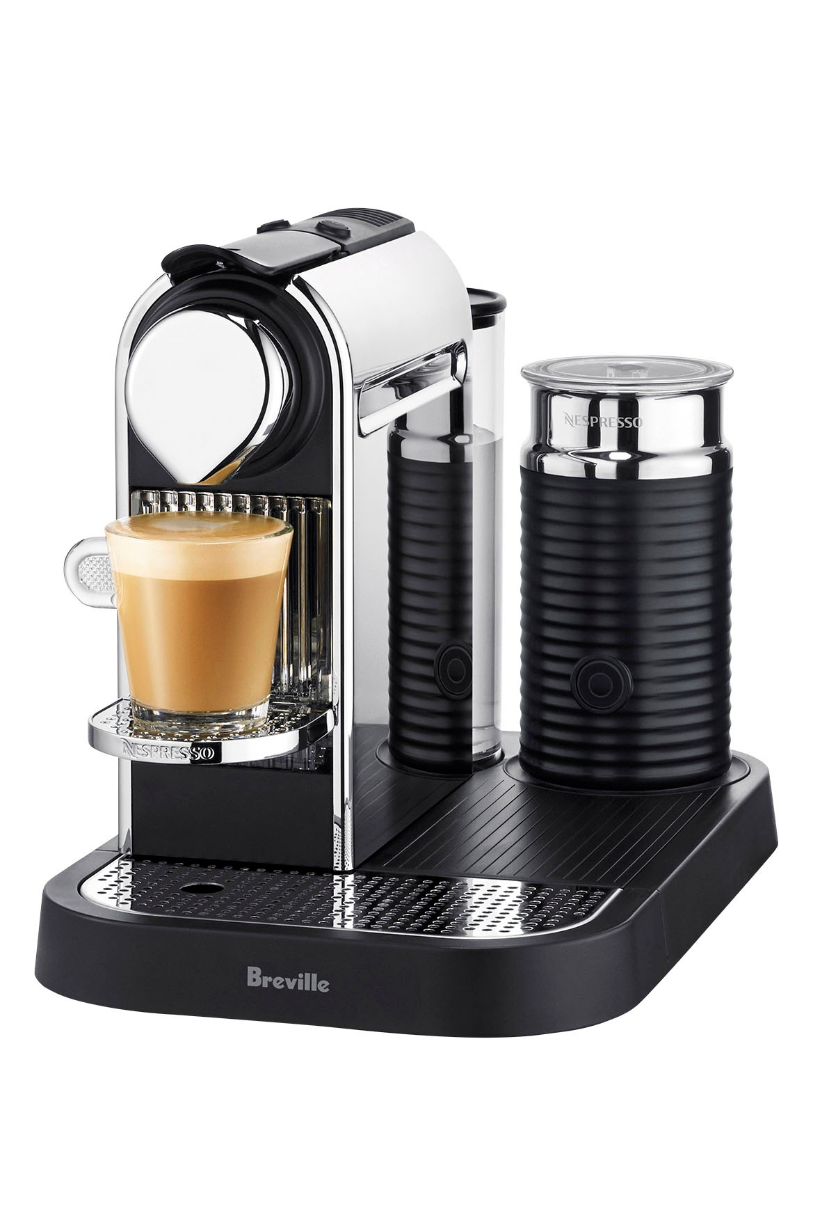 Nespresso by breville bec600mc citiz milk capsule coffee maker chrom - Machine nespresso 2 tasses ...