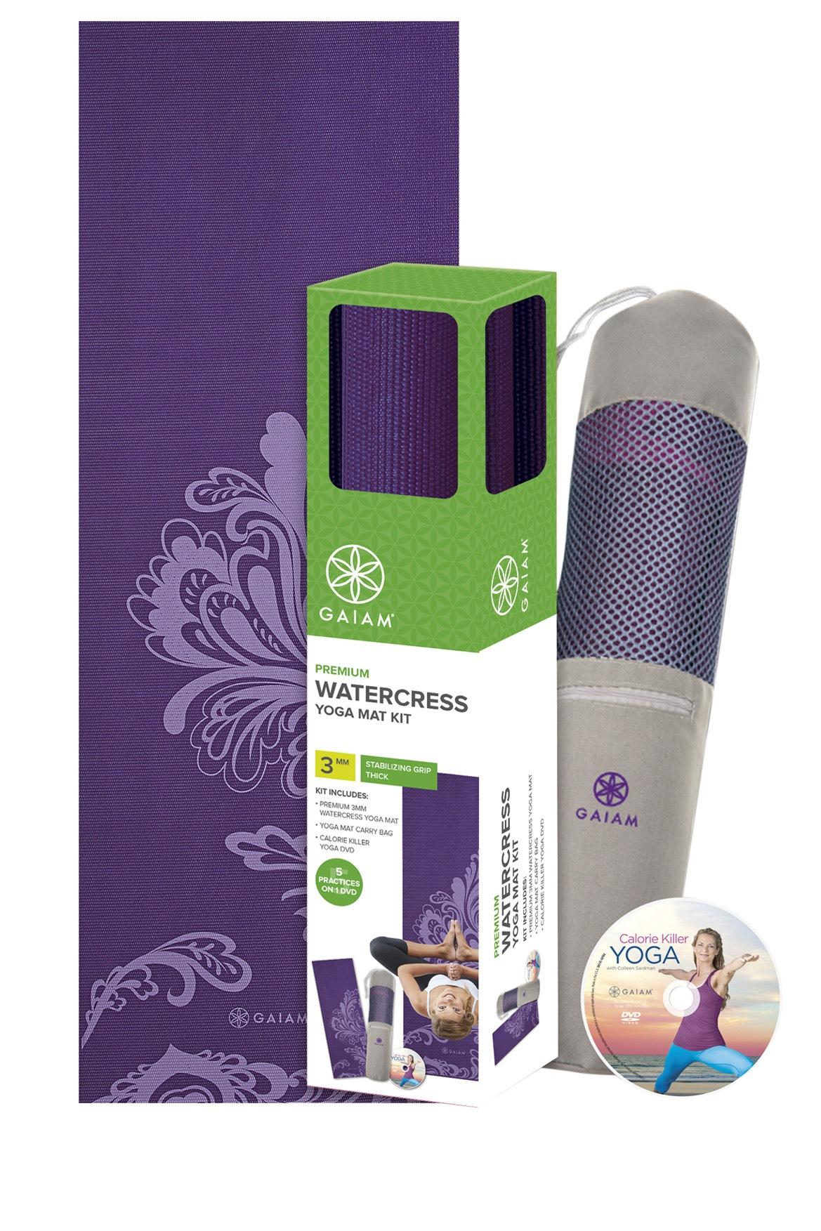 Gaiam Watercress Yoga Mat Kit Myer Online