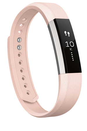 Fitbit - Alta Band Leather Blush Pink - Small