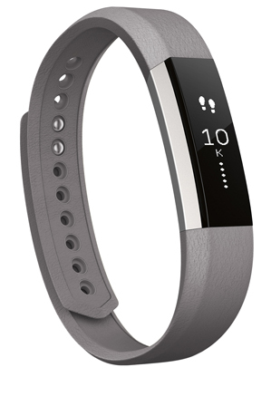Fitbit - Alta Band Leather Graphite - Small