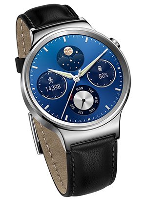 Huawei - Watch Stainless steel case with Leather Strap