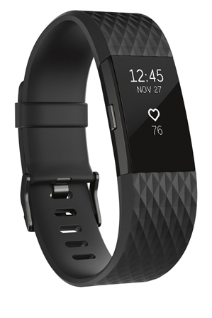 Fitbit - Charge 2 heart rate + fitness wristband Special Edition Gunmetal - Large