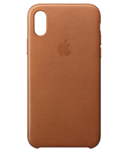 iPhone X Leather Case - Saddle Brown