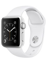 Apple - Apple Watch Series 2 38mm Silver Aluminium Case with White Sport Band MNNW2X/A