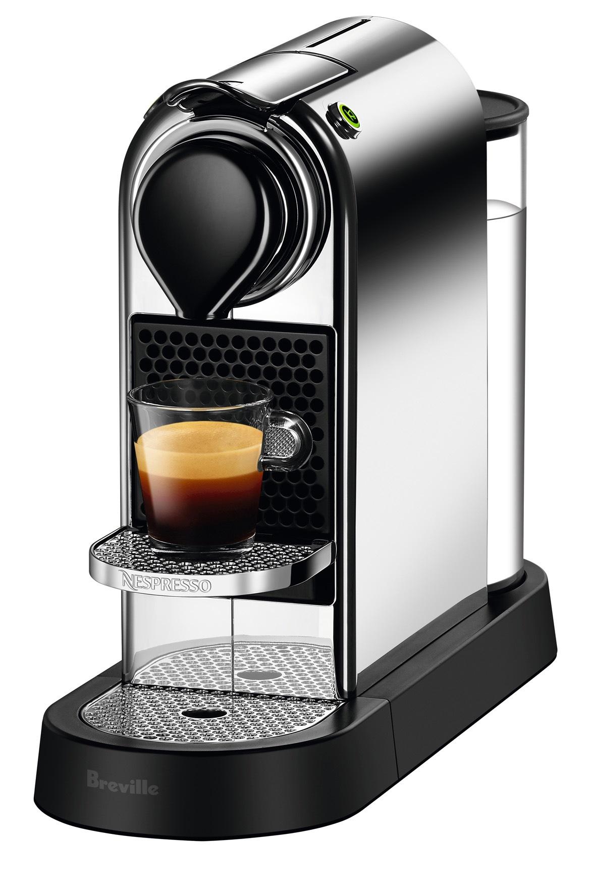 nespresso by breville bec650c citiz solo capsule coffee machine chrome myer online. Black Bedroom Furniture Sets. Home Design Ideas