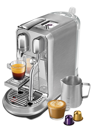 Nespresso - by Breville Creatista Plus Capsule Coffee Machine: Brushed Stainless Steel: BNE800BSS