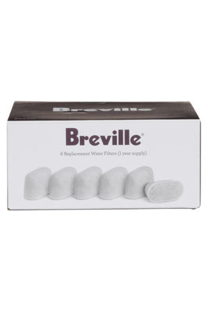 Breville - BWF100 Charcoal Water Filters suitable for Gourmet Single Cup Brewer or Barista Express